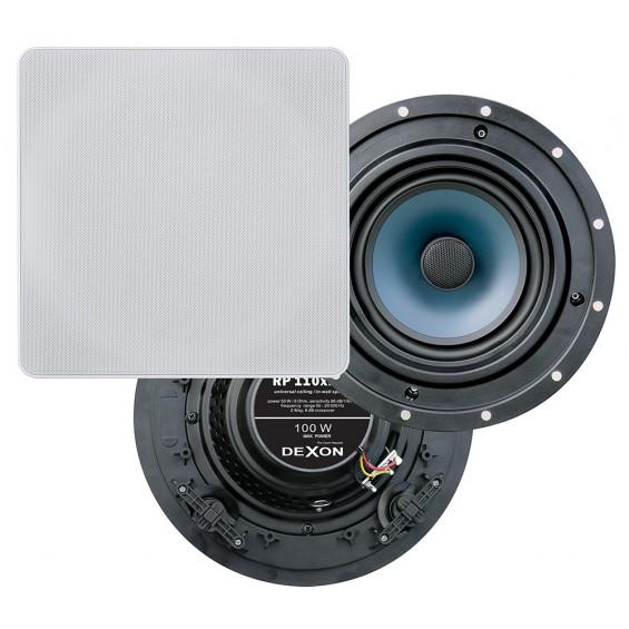 Dexon Dwudrożny Sufitowy Głośnik Kwadratowy 6.5' 100W (RP 110x110)
