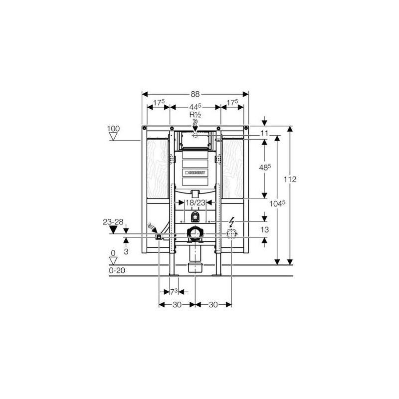 geberit up320 duofix dla niepe nosprawnych specjalny. Black Bedroom Furniture Sets. Home Design Ideas