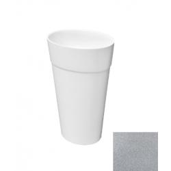 Besco Uniqa Glam Srebna Umywalka Wolnostojąca 32 x 46