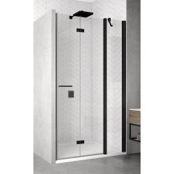 SanSwiss Solino Drzwi Prysznicowe Prawe SOLF13 BLACK NA WYMIAR (100-160 cm) Szkło Przezroczyste SOLF13DSM10607