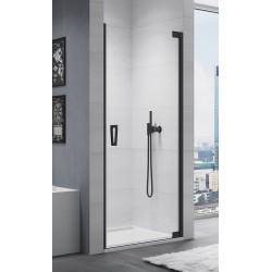 SanSwiss Cadura Drzwi Prysznicowe Prawe CA1C BLACK NA WYMIAR (50-100 cm) Szkło Przezroczyste CA1CDSM10607