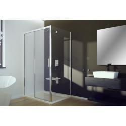 Besco Actis Drzwi Prysznicowe Przesuwne + Panel Boczny 100 x 80 cm